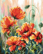 Cross Stitch Kit Poppies in the morning light
