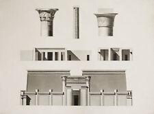 TEMPIO EGIZIO TEMPLE - Incisione Originale 1809-1829 Description Egypte Egitto