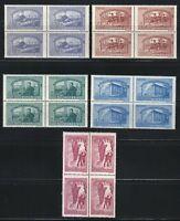 Romania 1947 MNH Mi 1042-1046 Sc B349-B353 Romania's vocational schools Blocks 4