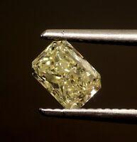 GIA certified .93ct SI2 W-X loose radiant yellow fancy princess cut diamond