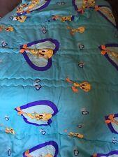 Tweety Bird Comforter Bedspread Quilt Sham Turquoise Purple Twin Size Hearts