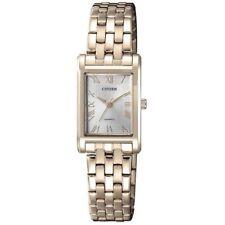 Citizen EJ6123-56A Gold with Silver Dial Women's Quartz Analog Dress Watch