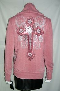 Sinful By Affliction Women's Wild West Hoodie Size Large