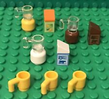 Lego New Foods Orange Juice,milk,chocolate Carton Pattern With MOC Jar And Mugs