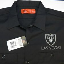NEW DICKIES LAS VEGAS LV RAIDERS FOOTBALL Embroidered WORK SHIRT Mens L Oakland