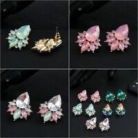 mode frauen rosa opal wasser tropfen acryl - kristall - stein hengst ohrringe