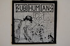 "Subhumans Cloth Patch Sew On Badge Punk Rock Disclose Gauze Approx 4""X4"" (CP45)"