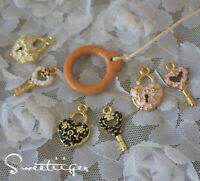 Blythe artist alloy pull ring lock & keys 2 set Cutest accessories outfit OOAK