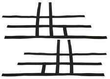 Suzuki LTR 450 LTR450   Nerf Bar Nets  Pair   Fits Alba Tusk    Black  F
