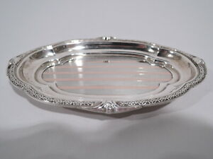 George V Tray - Antique Vanity - English Sterling Silver Pink Gold - Adie 1925