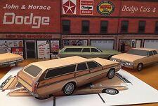 "Papercraft 1972 Dodge Monaco Station Wagon ""Paper"" Toy Car E Z U-build"