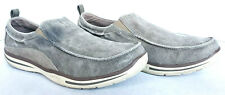 Skechers Mens Relaxed Fit Elected Drigo Canvas Taupe Moc Toe Loafer Shoes 13