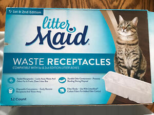 LitterMaid Cat Waste Receptacles 10 Count- Open Box (2 Missing)