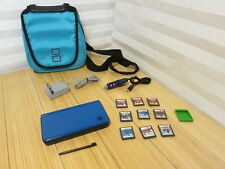 Nintendo DSi XL UTL-001 Blue System with 9 Games, Car & Wall Chargers,  Bag
