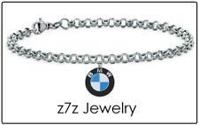 """BMW Choker Necklace - silver steel car logo emblem 16"""" chain jewelry z7qq"""