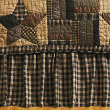 Bingham Star Bed Skirt Country Dust Ruffle Twin, Queen or King Cotton