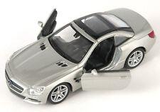 BLITZ VERSAND Mercedes SL 500 2012 silber silver Welly Modell Auto 1:34 NEU OVP