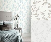 Arthouse Lavinia Floral Leaf Pattern Wallpaper Embossed Metallic Glitter Shimmer