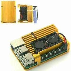 For Raspberry Pi 3 Model 3B 3B+ Aluminum Case Radiator Fan Cooling Shell Housing