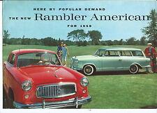 N-046- 1959 New Rambler American Motors Sales Brochure Original Leaflet NR Illst