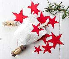 20 Sterne Stanzteile 3 - 6 und 8cm  Streudeko Winter Weihnachten Deko XL rot