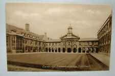 UK England Cambridge Emmanuel College First court vintage postcard photo