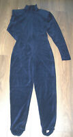 Velvet Navy Catsuit with Ankle Stirrups Size 10/12 See measurements in Specifics