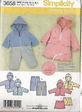 SIMPLY BABY - Hoodie, Skirt & Pants! Simplicity Pattern #3658 - Infant XXS - L