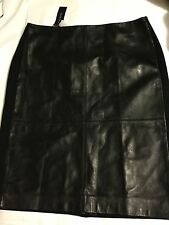 NEW Talbots Black 100% Leather Front Skirt and Ponte Skirt - 10