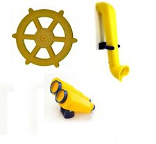 YELLOW Playground Accessories Kit Jumbo Ship Wheel Binoculars Periscope Cubby