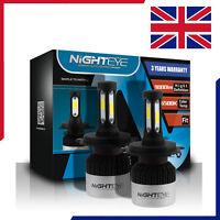 2X 72W 9000LM H4 LED Voiture Ampoule Phare Conversion Lampe Feux 6500K