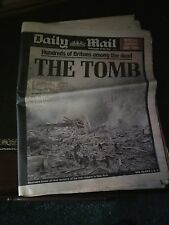 Daily Mail Thursday 13th September 2001, 9/11, Historic Newspaper Reports