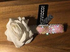 H&M Haarband Lolita Blogger Floral Rockabilly Haarschmuck Vintage Glitzer  NEU