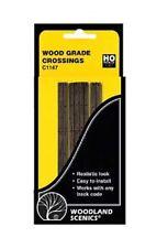 Woodland Scenics C1147 2 Sets Grade Crossings Wood Plank 1:87 Scale HO Gauge 1st