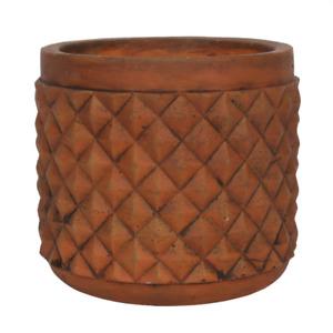 Rustic Terracotta Textured Plant Pot - Home & Garden - Indoor - Outdoor - New