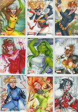 2013 Woman of Marvel series 2  Owens Artifex  cards MUST PICK ONE