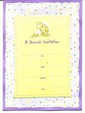 Disney Classic Pooh Baby Shower Invitations - Set of 10