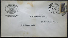 Cover - True 3 Cent Bisect to 1 1/2 Ct 3rd Class Mail rate - Chase Va S25