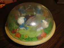 Vintage illco 1982 Peyo Smurf Campfire Roly Poly Chime Ball Baby Toy