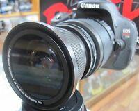 fisheye for Canon Eos Digital Rebel T5 T3i T2i XTi sl1 1100d 4 lens HD uv nd4