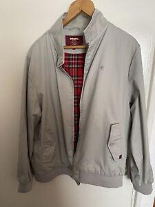 Merc London Tan Harrington Jacket With Tartan Lining Hardly Worn - Size Is XXL