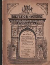 Dietetic & Hygienic Gazette October 1892 Physiological Medicine Aseptic Surgery
