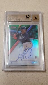 2018 Bowman's Best Best Of '18 Auto Green BGS 9.5 Ozzie Albies 87/99 RC Braves
