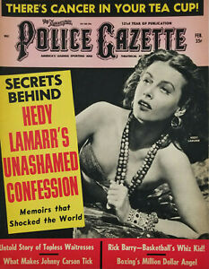 National Police Gazette Feb 1967 Hedy Lamarr Confession Topless Waitress Boxing