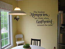 FONDEST MEMORIES KITCHEN DINING ROOM STICKER VINYL WALL ART DECOR DECAL QUOTE