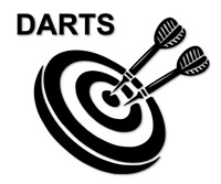 DARTS Aufkleber Autoaufkleber Tunierdarts Party Sport decal 24 #8197