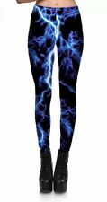 Lightning Bolt Black Leggings Trousers UK-10