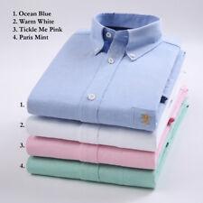 Mens Shirt OXFORD Button Down Casual.Plain & Striped,Single or Pair,Gift Him,UK