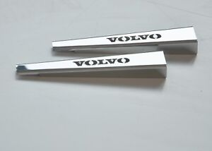 Volvo FH4 2013+ RHD Windscreen Wiper Cover Super Polished Stainless Steel 2 Pcs