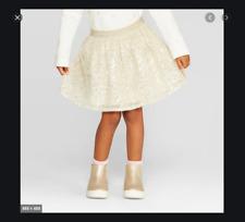OshKosh BGosh- Toddler Girls Gold Sequin Skirt 12M 18M 4T...